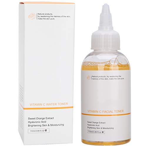 Tónico aclarador de la piel con vitamina C de 110 ml, minimizador de poros y tratamiento calmante para pieles sensibles, secas y mixtas - Preparación para sueros e hidratantes