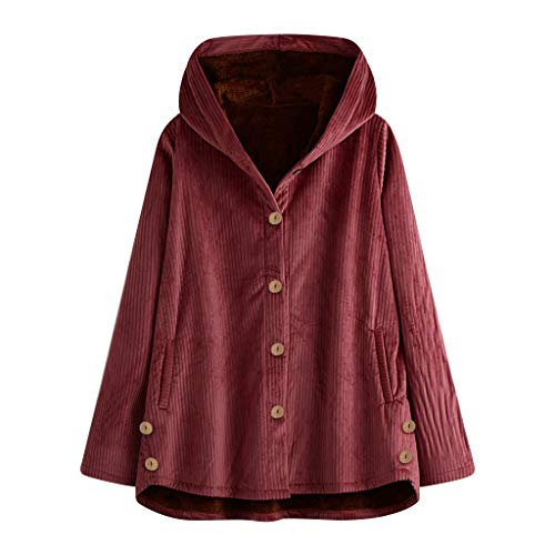 SANFASHION Wollmantel FRAUIT Damen Einfarbig warme Jacke Flauschige Mantel Fleece Fell Oberbekleidung Sweatshirt Mantel Pullover Damen Mode Elegant Wunderschön Streetwear Freizeit Party Kleidung