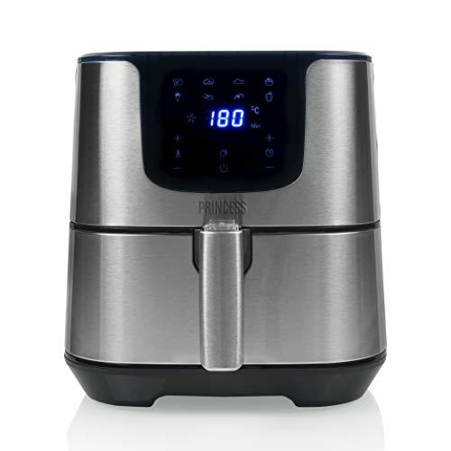 Princess Friggitrice ad Aria Deluxe XXL, 1700 watt, 5.5 litri, Friggitrice senza olio, 9 persone, Pannello di controllo digitale