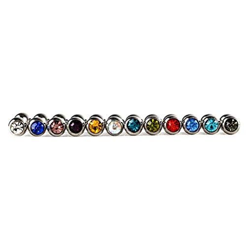 HOX Hypoallergene Mode RVS Studs Nagel Piercing Sieraden Tong Ring Schroef oor Been Nagel Kleur Gemengde Sieraden, Multi kleuren