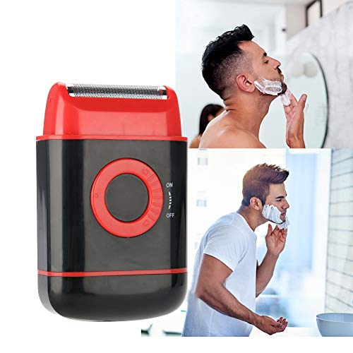 Men's Shaver, Electric Shaver Dry Battery, Electric Beard Reciprocating, Shaver Black/Blue/Red, Best Gift for Men(Red)