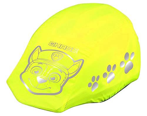 POS 31488 - Reflektierender Helm - Regenschutz, mit angesagtem Paw Patrol Motiv, Regenhülle für Fahrradhelme in neon-gelb mit Reflektoren, zur besseren Sichtbarkeit im Straßenverkehr