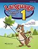 Language 1 - Abeka 1st Grade 1 Grammar, Creative Writing, and Reading Comprehension Student Work Text