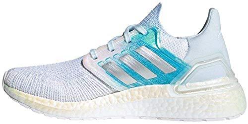 Adidas FV8336 Ultraboost 20 W, Zapatillas para Correr de Carretera Unisex Adulto, Blanc Argent Bleu Ciel, 39 1/3 EU