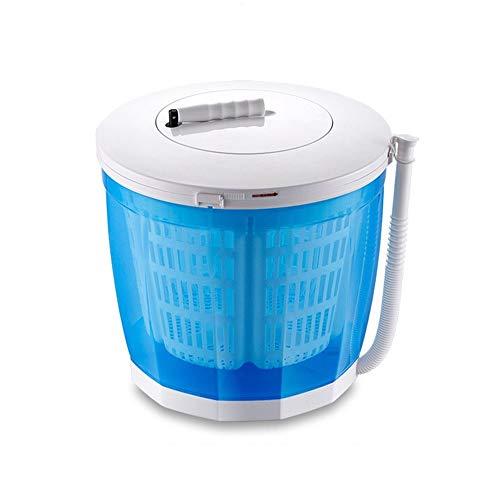 ZQY Draagbare, niet-elektrische handslinger-handwasmachine en -droger voor auto's of camping-desktop-wasbeurten dragend 11–22 lbs (13,8 x 13,4 inch)
