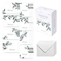 モノライク メッセージカード ミニカード サンキュー - ネイチャー Message card Thank you - Nature カード 40枚 封筒 20枚 セット ミニサイズ デザイ ン文具 お祝いのカード 感謝カード