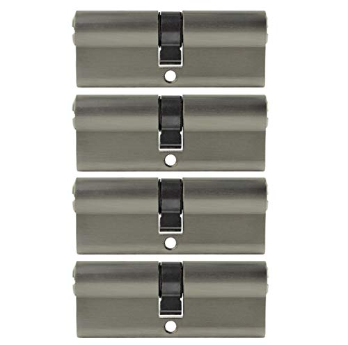 4x Zylinderschloss 40/40 gleichschließend 80 mm inkl. 10 Wendeschlüssel