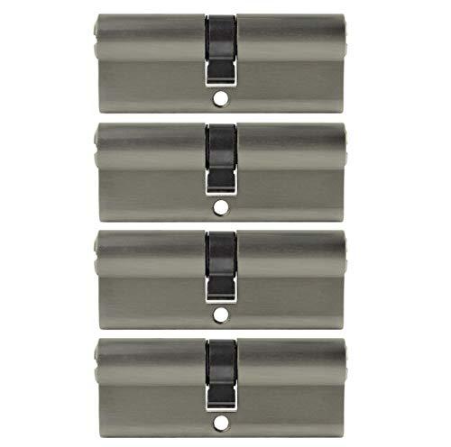 4x Profilzylinder 80mm 40/40 20x Schlüssel Tür Zylinder Schloss gleichschließend