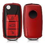 kwmobile Autoschlüssel Hülle kompatibel mit VW Skoda Seat 3-Tasten Autoschlüssel - TPU...