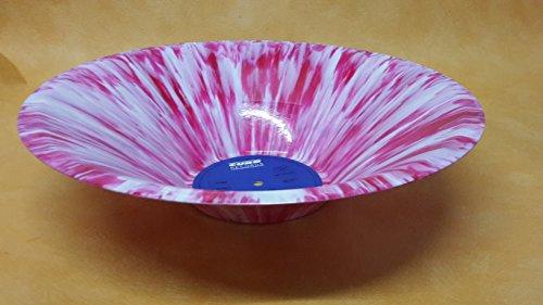 Schale, Schüssel aus original Vinyl Schallplatte in dern Farben pink weiß Obstschale Upcycling Design