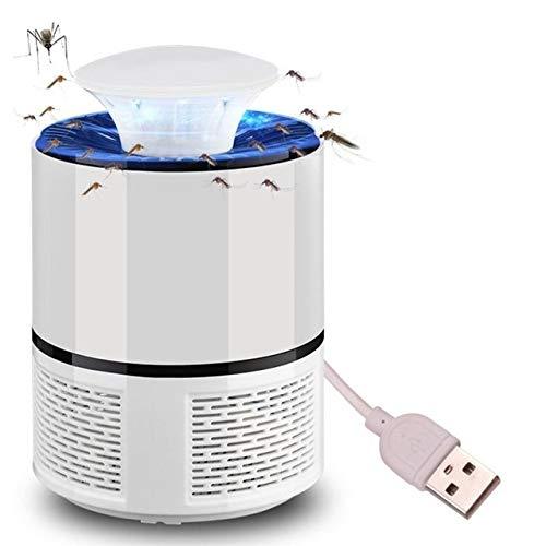 LJQLXJ Espiral para Mosquitos LED Pest Reject Killer Machine Mosquito Room Bug UV Insect Camp Light Zapper Home Buzz Moscas para niños, Blanco