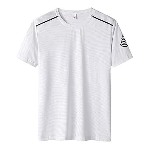 Camiseta deportiva casual para hombre, transpirable, secado rápido, manga corta, para correr, entrenamiento, entrenamiento, etc