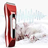 Masterberry Pets Hair Clipper, Professional Dogs and Cats Hair Clipper Electric Cordless Hair Grooming Home Haircut Sets