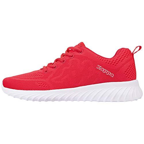 Kappa Affel Sneakers für Frauen und Männer | sportliche Freizeitschuhe für Casual Outfits | stylische Unisex Turnschuhe | Sohle mit leichtem Profil, weiches Futter | Pink/ Weiß, Größe: 40 EU