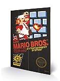 Nintendo SW11295P Super Mario Bros. (NES Cover) Impression sur Bois, Multicolore, 40 x 59 cm