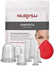 SMOOTH by Nurysh Face & Body Cupping Therapy Set – Deep Tissue Skin Massage Therapy System, 7 Silicone Detox Suction Cups for Cellulite & Wrinkles – Massaging Tools Tone, Tighten, Plump, Firm