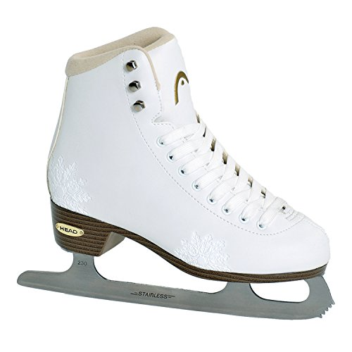 HEAD Eiskunstlauf Schlittschuhe Amber I Damen Schlittschuhe mit Edelstahlkufe I Schneeflocken-Design I ideal für Einsteigerinnen - Weiß
