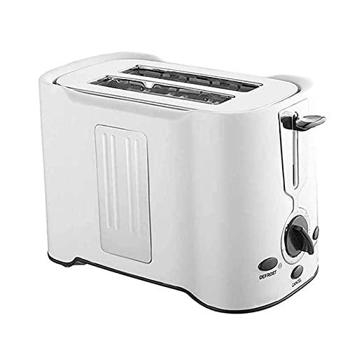 Adesign Tostadora de 2 rebanadas, 850W, configuración de Browning, descongelación, recaliente y cancelación de Funciones, Negro, BPA Free, Bandeja de miga extraíble (Color : White)
