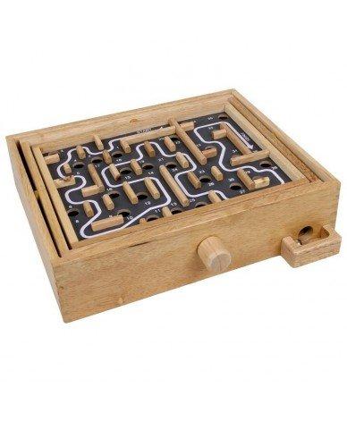 Legler - Jeu de société Labyrinthe en bois Solitaire Jeu de billes Enfants 6 ans +