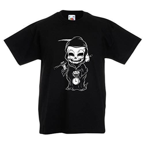 N4395K La Camiseta de los niños La Muerte (14-15 Years Negro Multicolor)