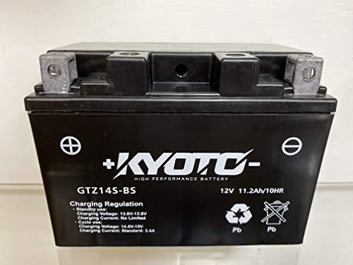 Batería para moto Kyoto GTZ14S SLA (YTZ14S) compatible con KTM Adventure, S 990 2003 – Lista para su uso 12 V 11,2 Ah 150 x 87 x 110 mm