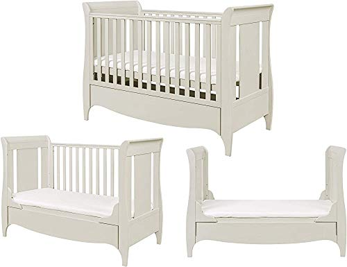 Wooden Crib, with Drawers, can be Installed for a Sofa, Small beds, Adjustable beds,140x70cm-Linen