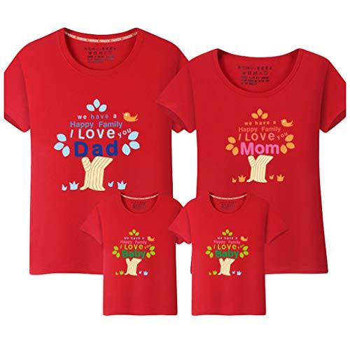 MisFox Camiseta Casual Manga Corta Camisa de Cuello Redondo Regalos Padre e Hijo Ropa Igual para Toda la Familia