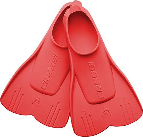 Cressi Mini Light Fins Aletas Cortas para Snorkel y natación, Unisex niños, Rojo, 29/31