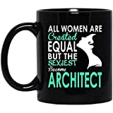Ahdyr Taza Taza de café Las Mujeres más Atractivas del Arquitecto se convierten en Arquitecto 11 oz. Taza Negra