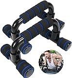 KIKILIVE - Set di 2 flessioni, maniglie per flessioni con impugnatura antiscivolo, professionali per flessioni push up bar per allenamento muscolare e forza (blu nero)