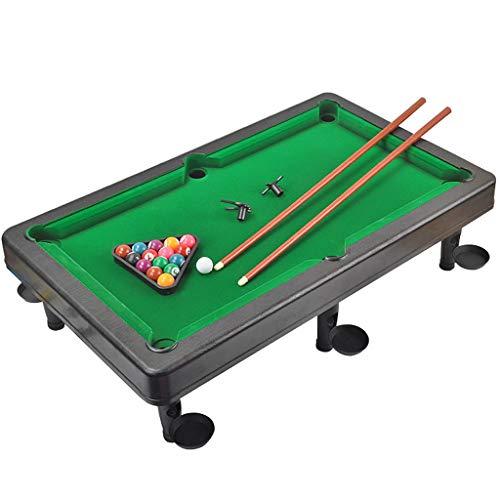 Omiky Kindertischspiel 55CM Billard Mini Tabletop Pool Set Billard-Spiel enthält Spielball, Sticks, Dreieck