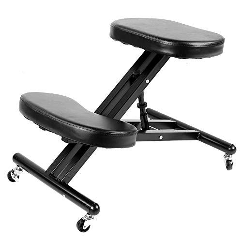 NXW Ergonomischer Kniestuhl Home-Office-Stühle Mit Höhenverstellbarer Haltung Sitzkorrektur Schlechter Rücken Nackenschmerzen Linderung Der Wirbelsäulenspannung Entlasten Sie Das Kniekissen