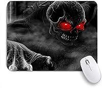 KAPANOUマウスパッド ハッピーハロウィン黒悪魔 ゲーミング オフィス最適 おしゃれ 防水 耐久性が良い 滑り止めゴム底 ゲーミングなど適用 マウス 用ノートブックコンピュータマウスマット