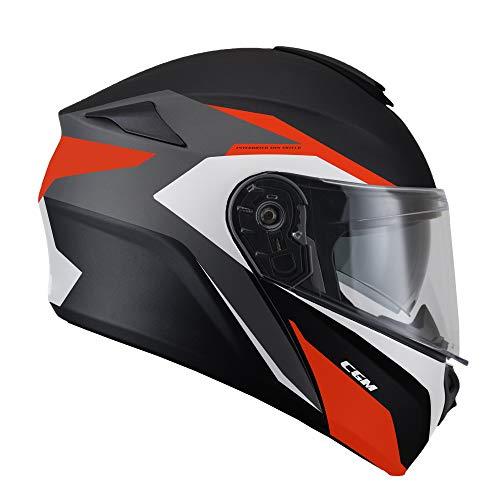 508G-ALV-03 Rot matt (M) Helm umwandelbar (DRESDA Pinlock) Innenhose extra rauchgrau