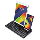 VicTsing Wireless Bluetooth Keyboard for iPad – Multi Devices 2.4G USB Wireless Rechargeable Keyboard with Phone Holder Compatible for Apple Android Phone Tablet MacBook Surface PC