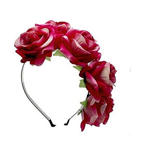 BOLAWOO-77 Coiffe Bandeau Bandeau Élégant Cheveux Élégant Doux Mignon Coiffure Mode Chic Bande De Cheveux Dames Bandeau (Color : Rose Hot Pink, Size : One Size)