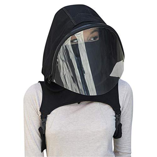 TSBB Sport Traspirante Traspirante Maschera a Pieno Facciale con Cappello con Cappuccio Abbigliamento Protettivo Cappellino per Adulti