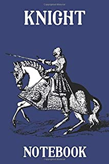 Knight Notebook  - Horse - Classic - Blue - College Ruled