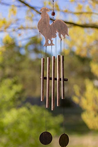 VP Home Rustic Rooster Outdoor Garden Decor Wind Chime product image