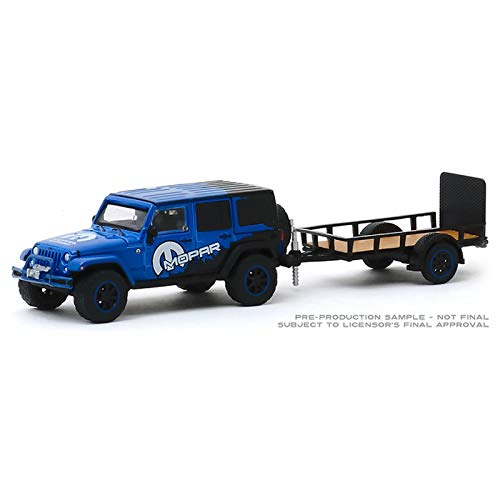 Greenlight 1:64 Hitch & Tow Series 19 - 2012 Jeep Wrangler Unlimited Off-Road Edition and Utility Trailer 32190-B