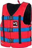 MESLE Schwimmhilfe H600, 2XS-3XL, 50-N Auftriebsweste Prallschutz Schwimmhilfe, für Erwachsene Jugendliche Kinder, Wasserski Wakeboard Impact-Vest Paddel-Weste, Größen:XS