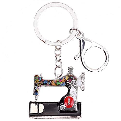 HXYKLM Metalen Naaimachine Sleutelhanger Sleutelhanger Ring Handtas Tas Bedel Trendy Sieraden Voor Vrouwen Emaille Sleutelhanger Accessoires