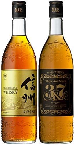 マルスウイスキー 2本 飲み比べセット 「信州 長野県限定 720ml」 「3&7 720ml」 マルス信州蒸溜所