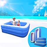 JBZP Play Water Lawn Sprinklers-Inflatable Pool, Family Lounge Pool, Inflatable Lounge Pool for Kiddie, Adults, Easy Set Pool for Backyard, Summer Water Party, Outdoor, S