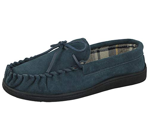 Cushion Walk Mens Real Suede Leather Moccasin Slippers Size 7-12 (UK 9/EU...