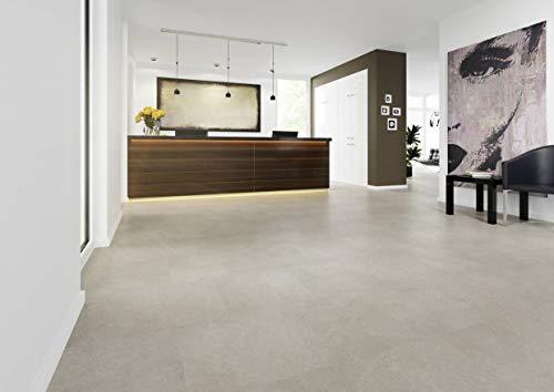 JOKA Hochwertiger Vinylboden/Laminat Dielen PVC zum kleben, Design 555 Nr.: 5534 Light Concrete, edle Steinoptik Paket = 3,34 qm mit Musterservice