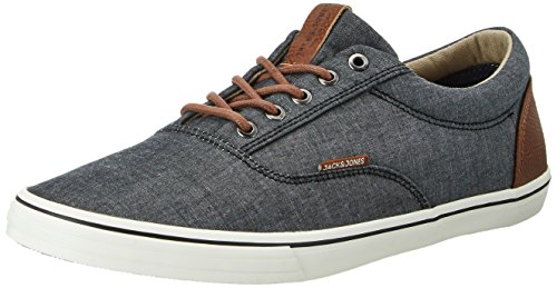 JACK & JONES Herren JFWVISION Chambray Mix Low-Top, Grau (Anthracite), 45