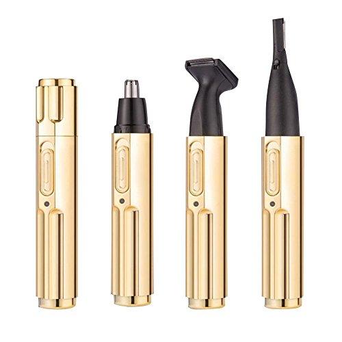 Précision électrique de trimmer de Prfessional de cheveux de sourcil d'oreille de nez électrique 360 ° tournant la coupe / trim , gold