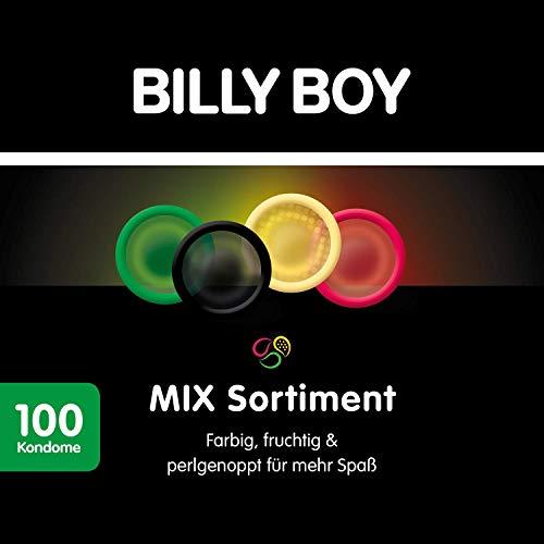 Billy Boy Kondome Mix-Sortiment Aus Bunten, Perlgenoppten, Aromatisierten Und Extra Feuchten Kondomen, 100er Pack