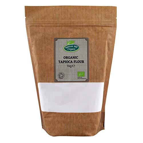 Harina de tapioca orgánica / almidón 1kg de Hatton Hill Organic (Farina / amido di tapioca bio)